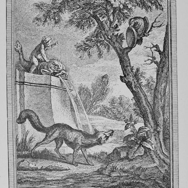 Illustration le corbeau et le renard