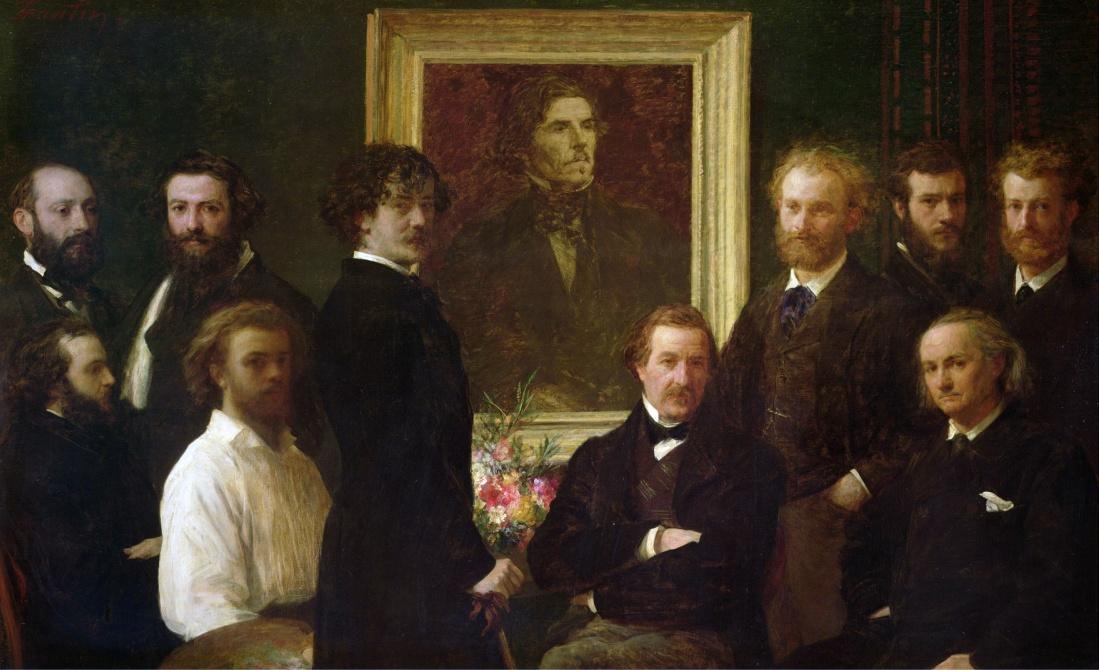 Fantin Latour rend hommage au peintre Delacroix