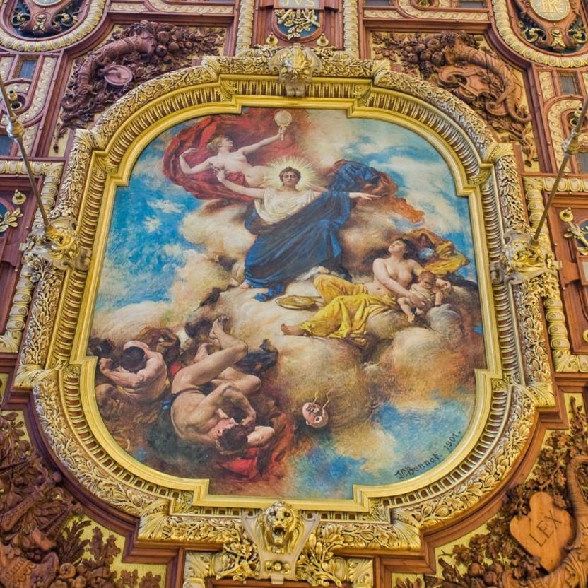 le plafond de la première chambre de la cour d'appel de paris