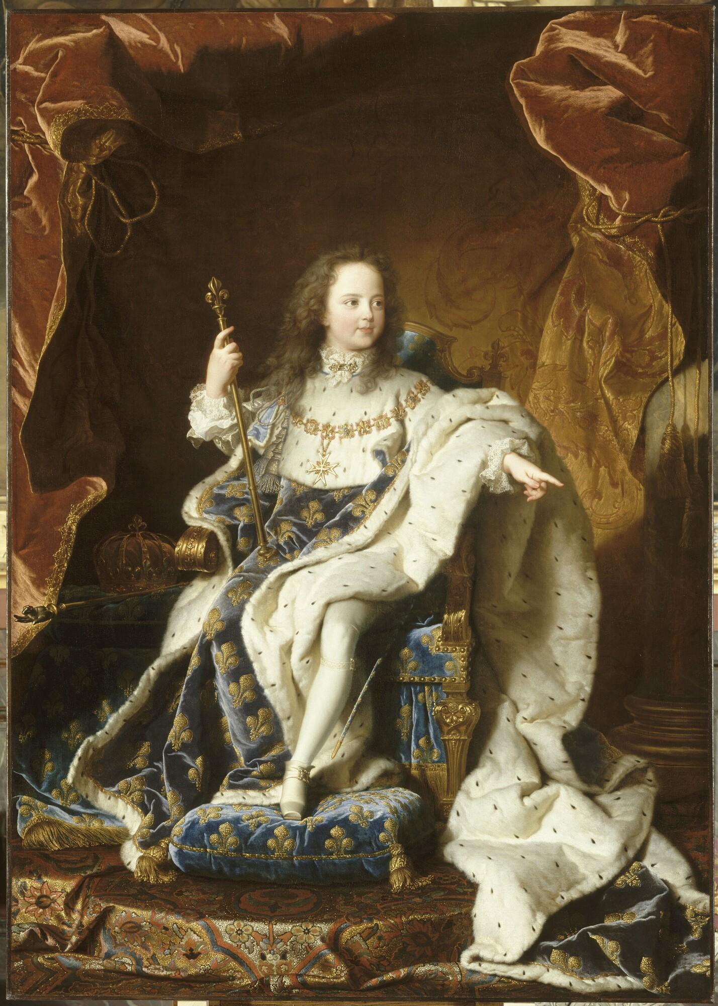 portrait de Louis XV à 5 ans