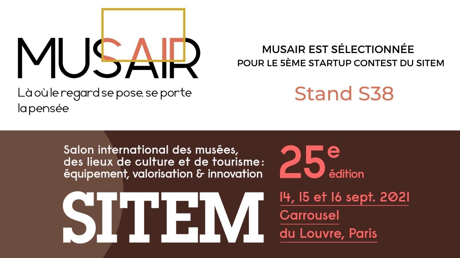 Musair startup sélectionnée au startup contest du sitem