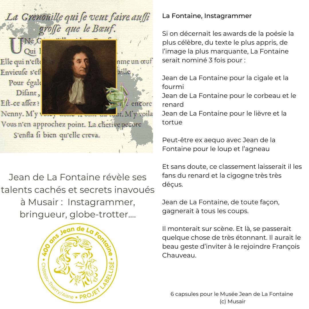 référence Musair label Jean de La Fontaine