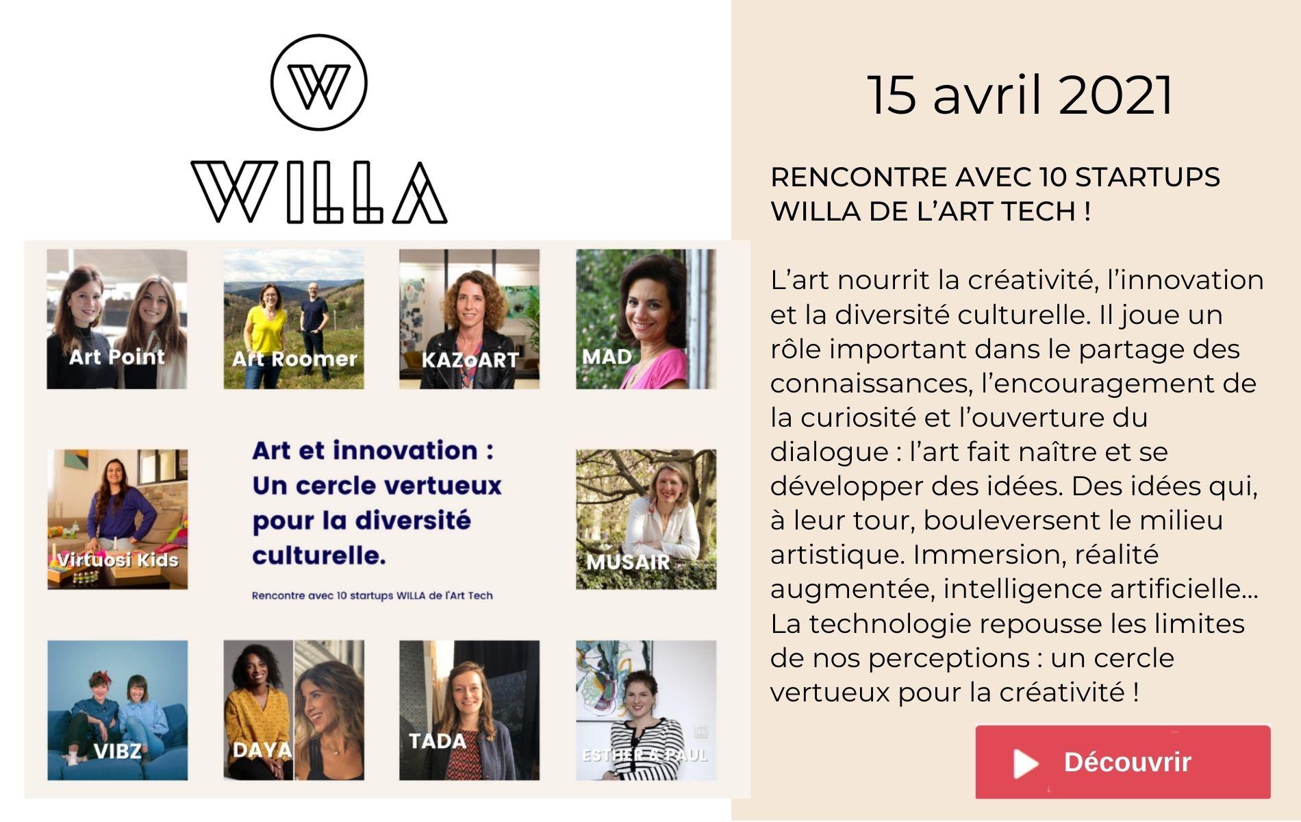 Musair startup de willa paris pionnières arttech