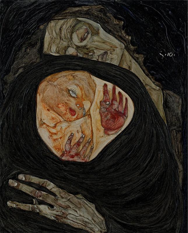 une mère morte et son foetus