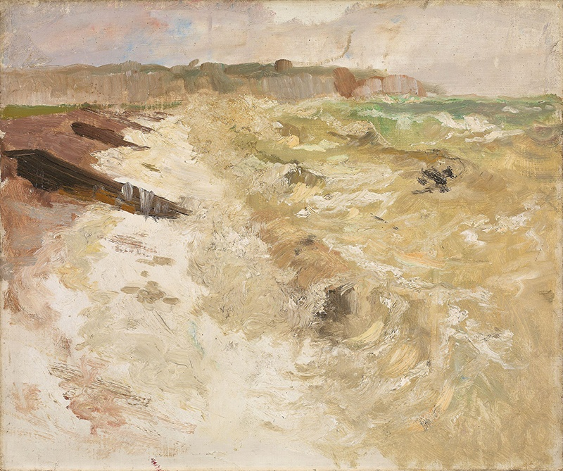 vue de la plage de Dieppe