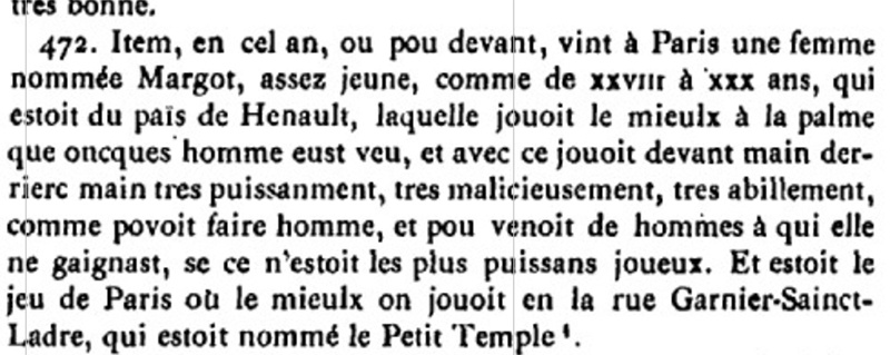 histoire de margot du Hainaut