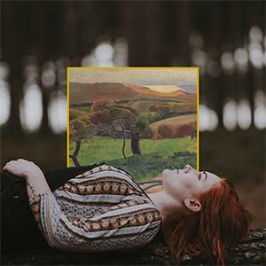 méditation devant un paysage avec musair