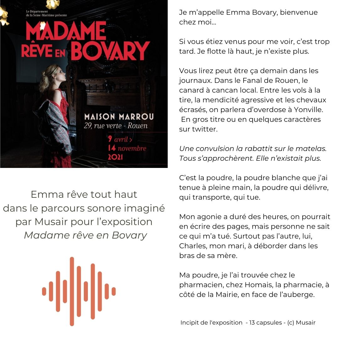 Musair référence Madame rêve en Bovary Rouen
