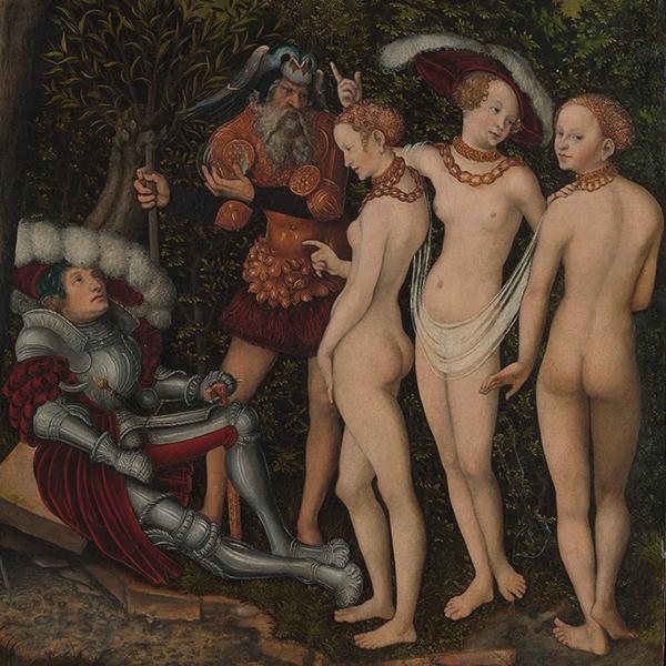 le jugement de paris par Lucas Cranach l'ancien, MET, New York