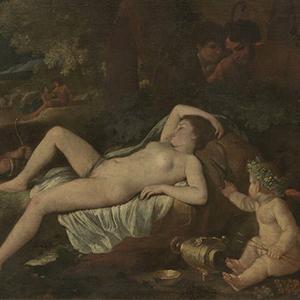 Venus cupidon tableau de poussin