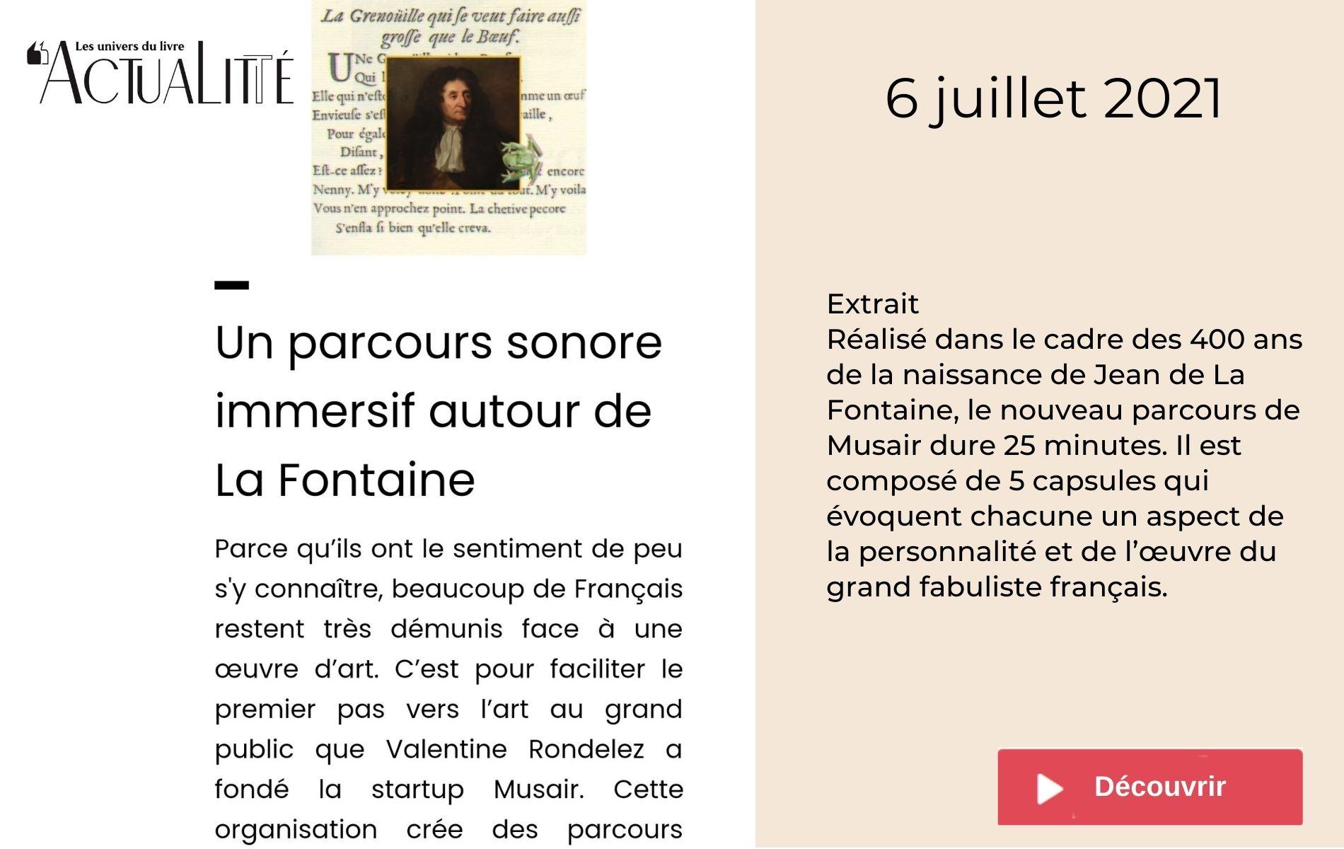 Actualité Littéraire Jean de La Fontaine