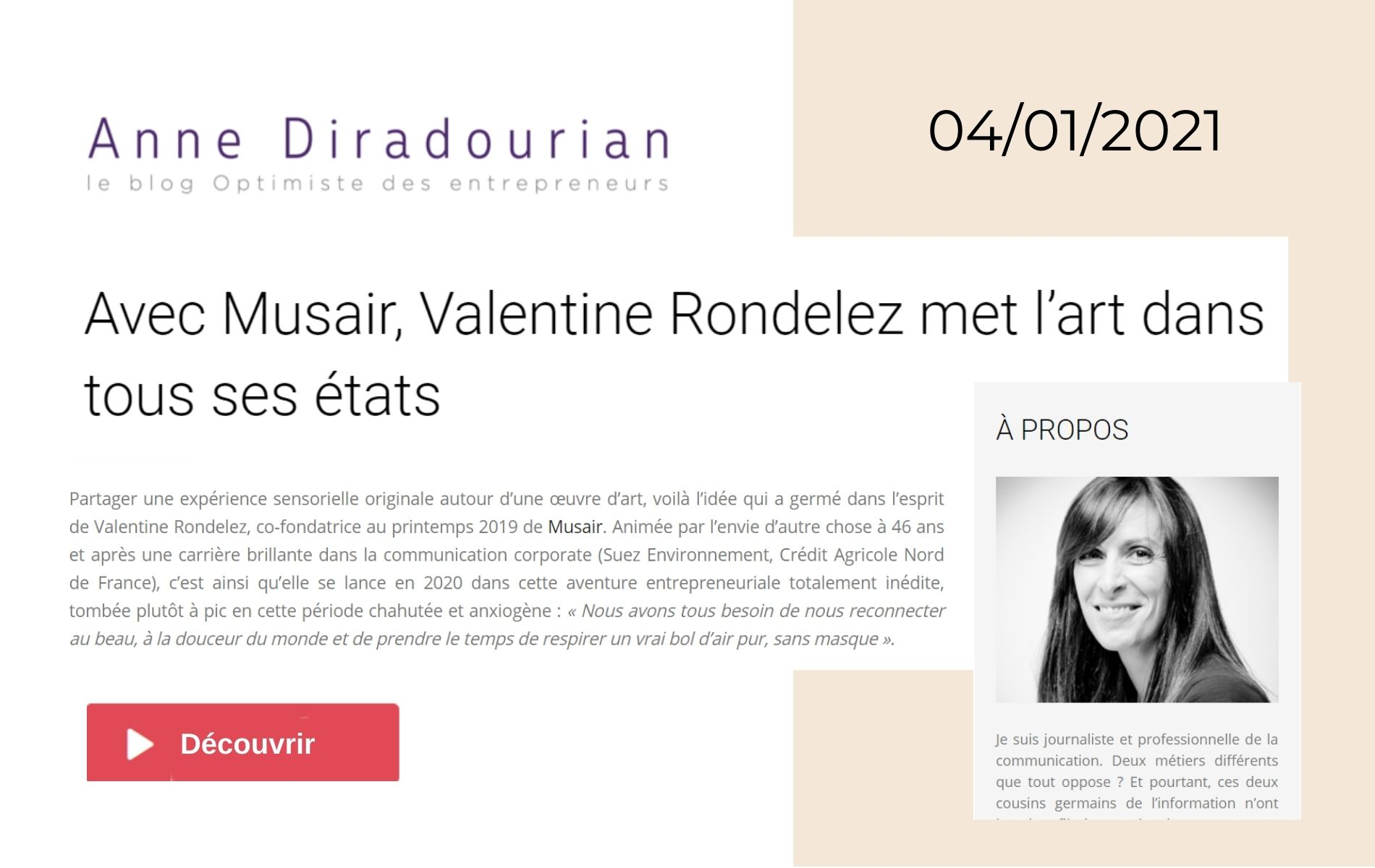 Valentine Rondelez startup sélectionnée par femmes entrepreneuses orange